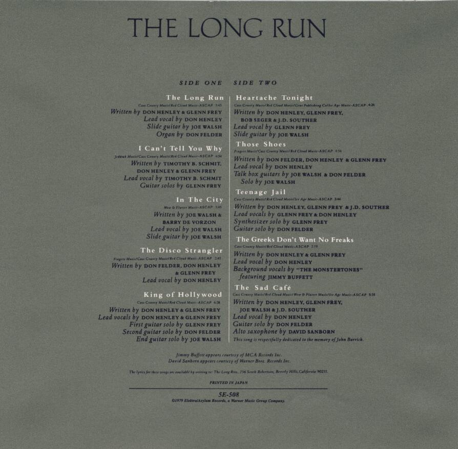 Eagles乐队:《 The Long Run (1979)》无损flac